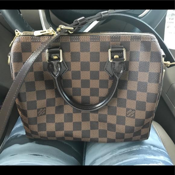 624aedff81b8 Louis Vuitton Handbags - Louis Vuitton speedy bandouliere 25 damier ebene